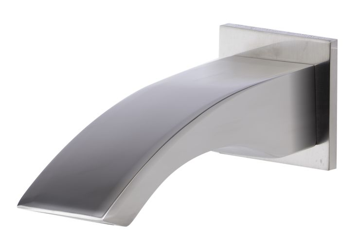 ALFI Brushed Nickel Curved Wallmounted Tub Filler Bathroom Spout | Products | Pinterest | Bathroom, Tub and Brushed nickel