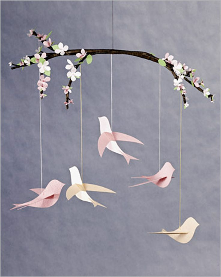 Decorating , Creative and Special DIY Baby Mobile : Diy Baby Mobiles Bird