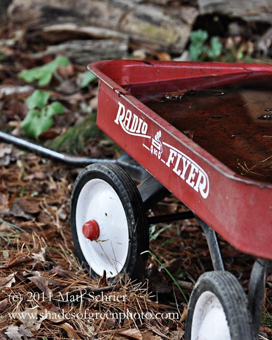 Radio Flyer Wagon Photo (V) 5x7 - Fine Art Print - Red Vintage Wagon Antique. $15.00, via Etsy.