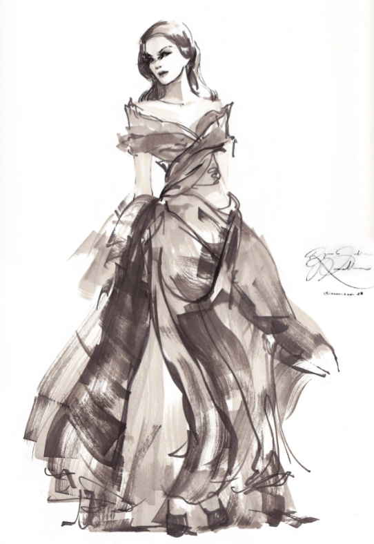 Fashion illustration - couture gown by Ryan Jude Novelline
