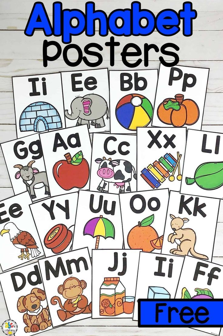 Printable Alphabet Posters Letter Knowledge Resource Alphabet Poster Teaching The Alphabet Alphabet