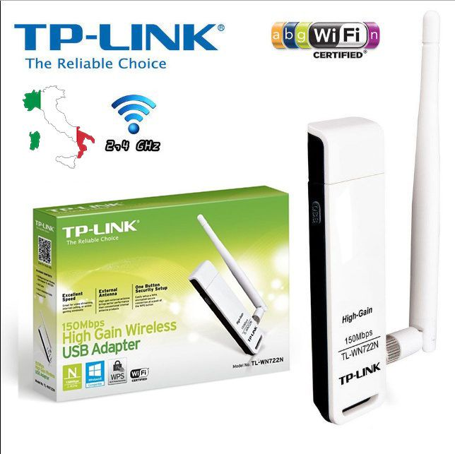 TP-LINK TL-WN722N Wireless N150 High Support Windows 8.1/8/7/vista/XP bY TP-LINK