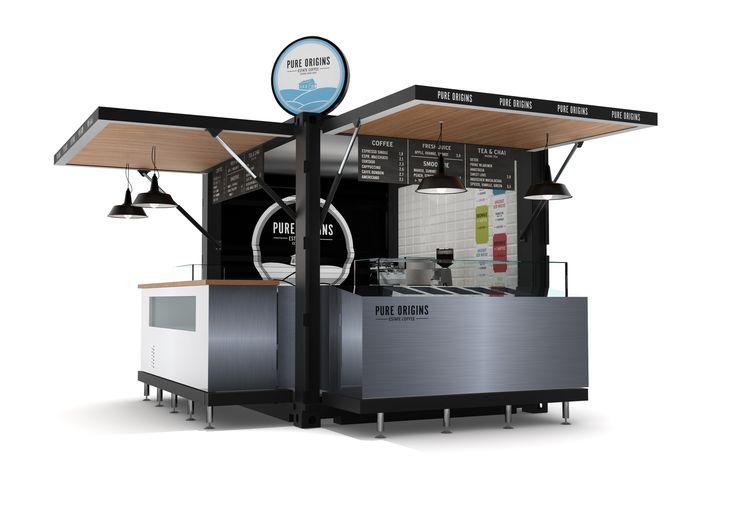 Image result for pure origins coffee shop kiosk design for Decor 720 container