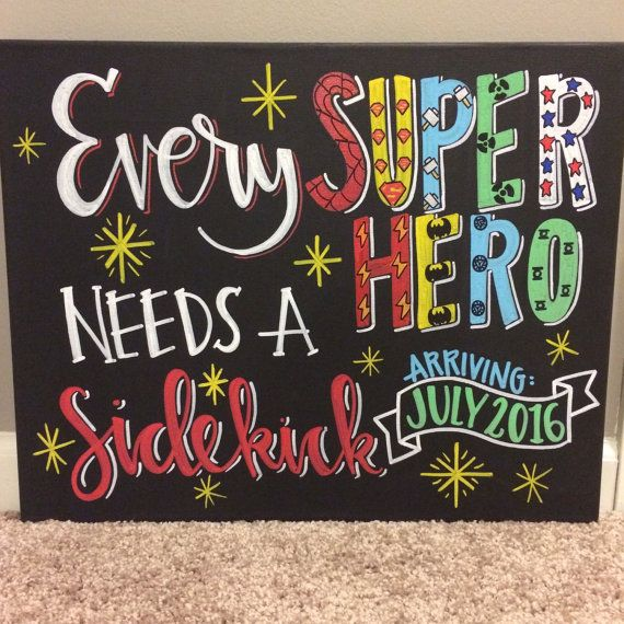 Chalkboard baby pregnancy announcement / Every by SweetChalking