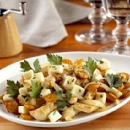 Gebakken wortelen met kip en Chamois d'Or® | I Love Cheese
