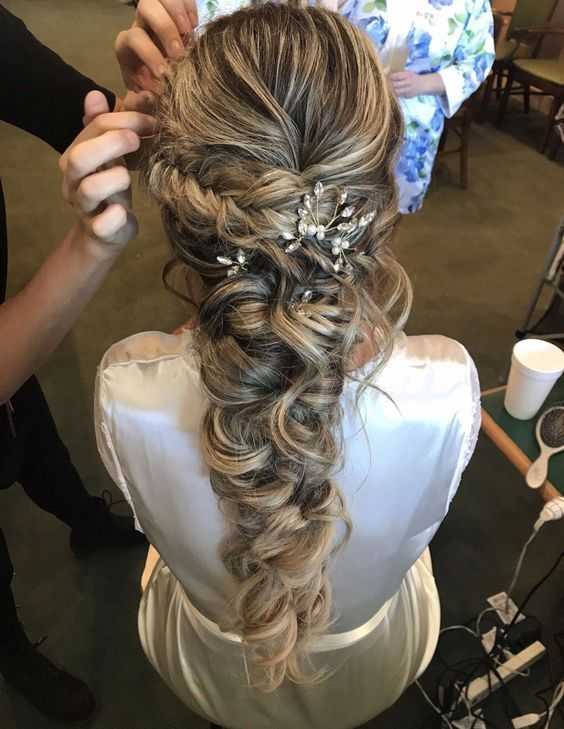 46 Unforgettable Wedding Hairstyles for Long Hair 2019 - Elegant Hairstyle - Hairstyle - #elegant #Hairstyle # for #Hair #Hairstyle