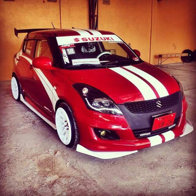 Suzuki swift red n white
