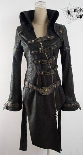 Steampunk. This is what I would wear to marry Guy of Gisborne as portrayed in black leather by Richard Armitage. Ooooo!