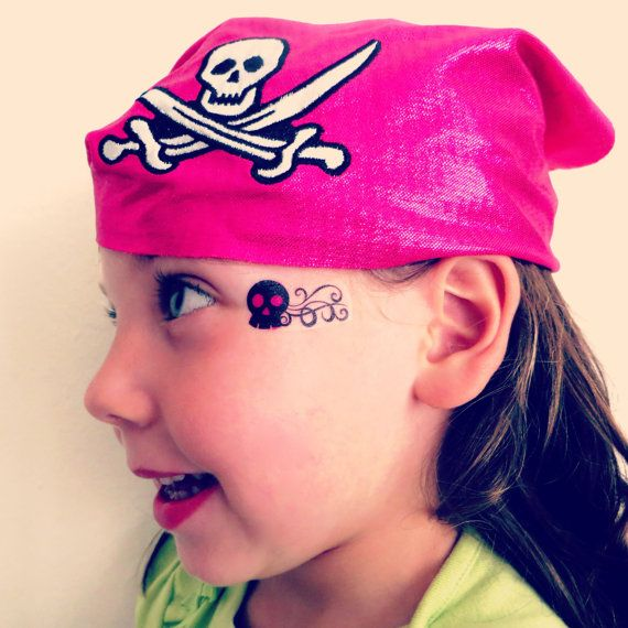 Skull and Crossbones Temporary Face Tattoo for by EARinkFun