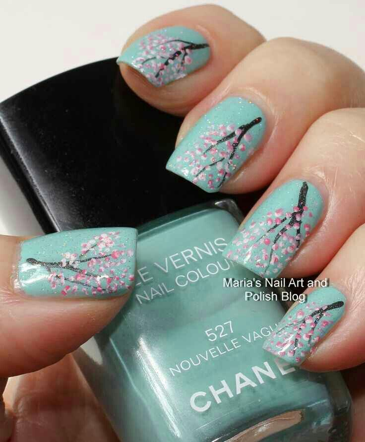 Very cute idea, except I would use Essie's Mint Candy Apple, a lighter color
