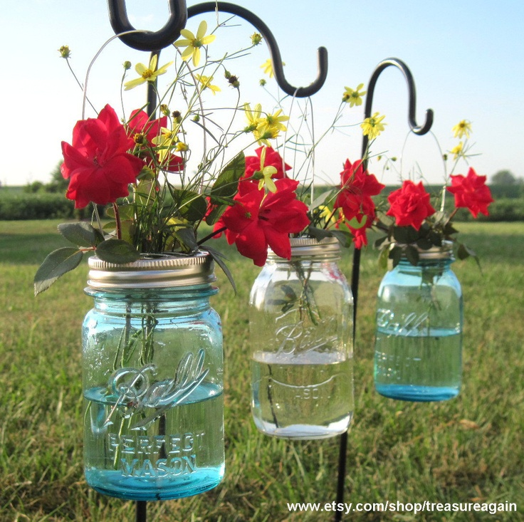 Hanging Mason Jars Garden Party Lids Only No Jars Masons Wedding