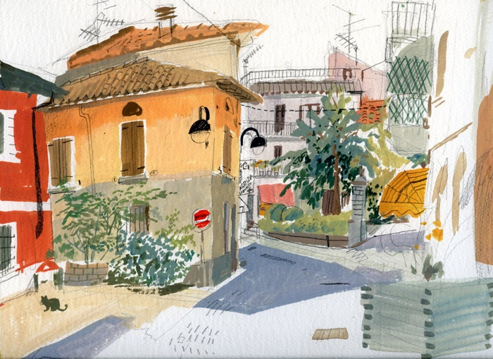 A corner in Manerba del Garda - Meilo So Illustrations (c)
