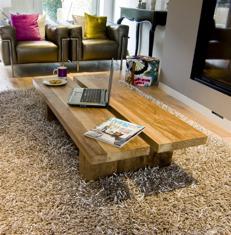 The 'Rinjani' Coffee Table– beautiful and unique, solid wood coffee table made from 100% eco-friendly solid reclaimed teak.