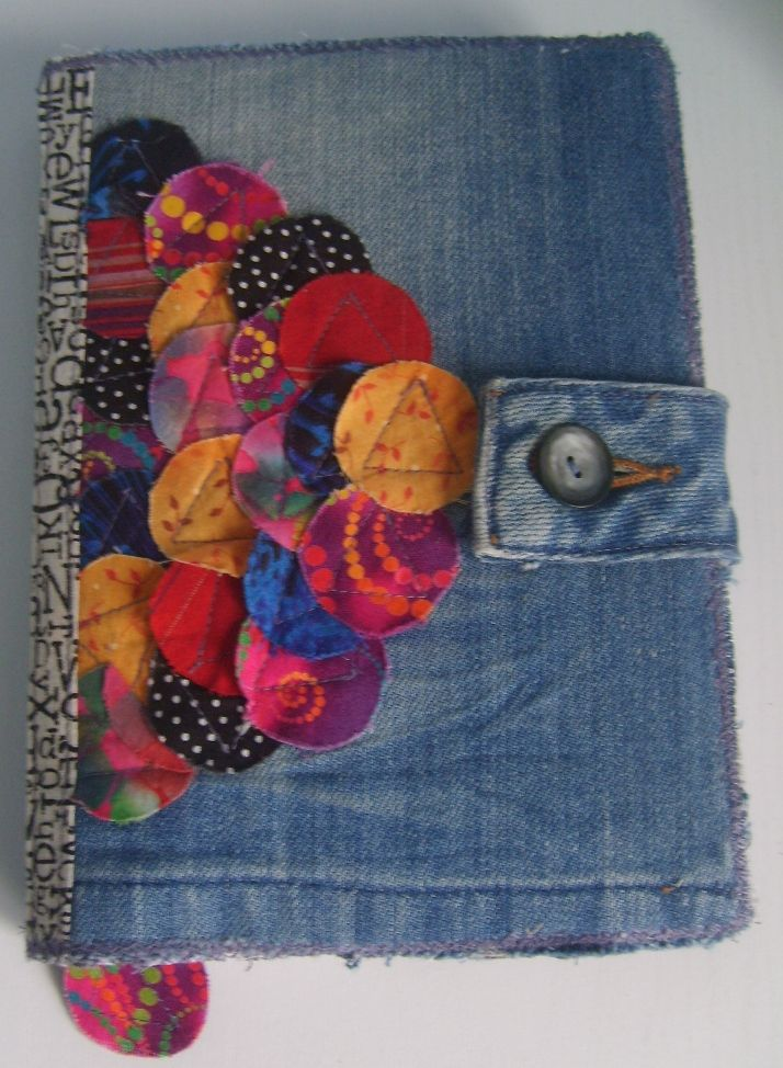 Denim and fabric Book cover, would work for my Kindle Get any book for 99 cents. DAILY DEALS !