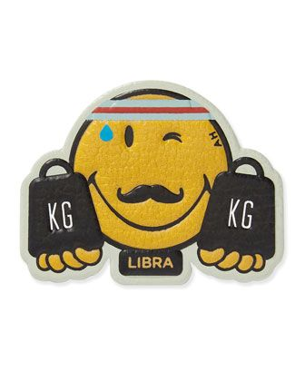 Zodiac+Libra+Sticker+for+Handbag+by+Anya+Hindmarch+at+Neiman+Marcus.