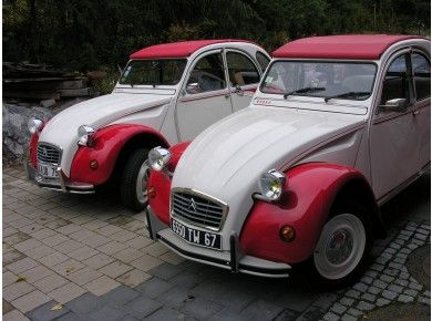 2CV Dolly rouge et blanche