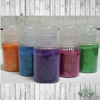 Range of Glitter, Orange, Blue, Purple, Pink and Green
