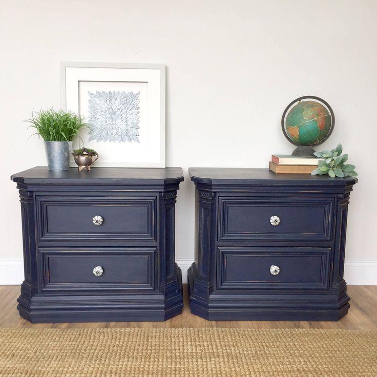 Navy Blue Nightstands - Thomasville Bedroom Furniture