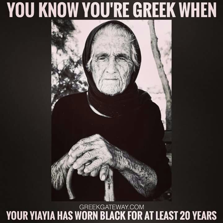Greek Yiayia. Traditional clothing of widows.