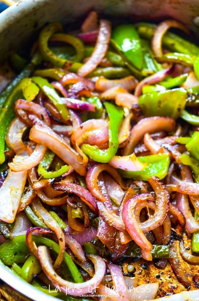 Copycat Chipotle Peppers & Onions - Simple, healthy fast - tastes just like them!