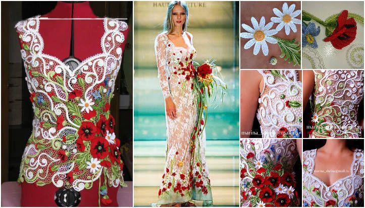 çiçek desenli yazlık elbise yapımı