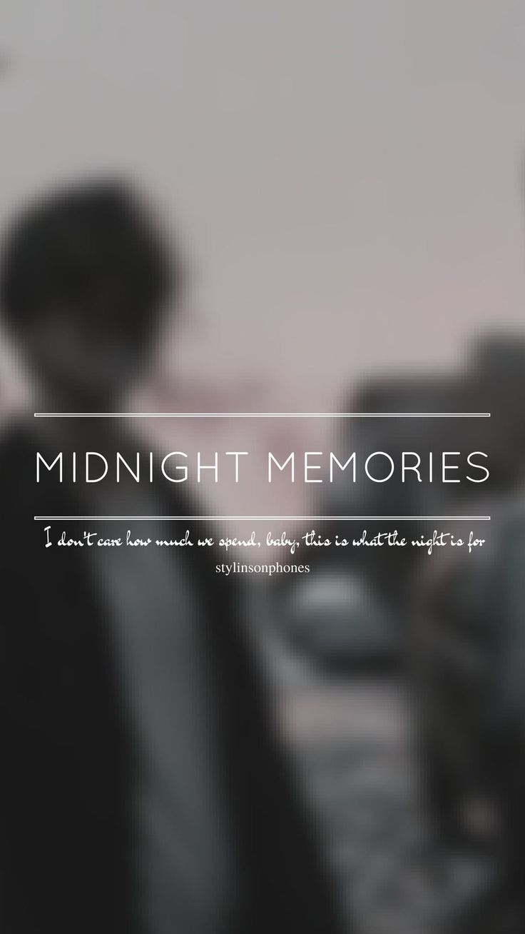Midnight Memories // One Direction // ctto: @stylinsonphones (on Twitter)