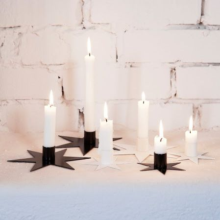 Star 17 cm (light stub), Black. Set of 3 - Ernst Kirchsteiger - Ernst Kirchsteiger - RoyalDesign.com