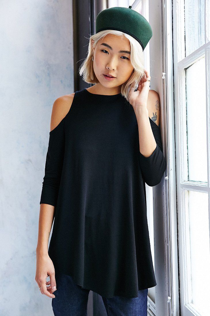Kimchi Blue Tyra Cold Shoulder Tunic Top