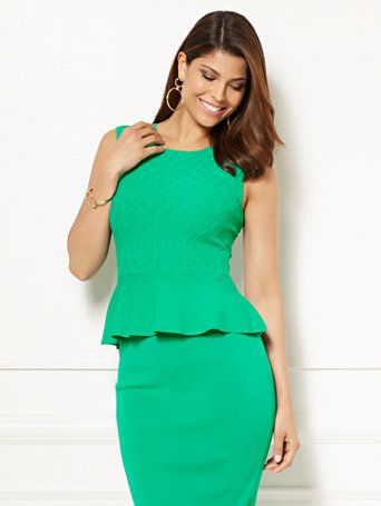 Shop Eva Mendes Collection - Nora Peplum Sweater. Find your perfect size online at the best price at New York & Company.
