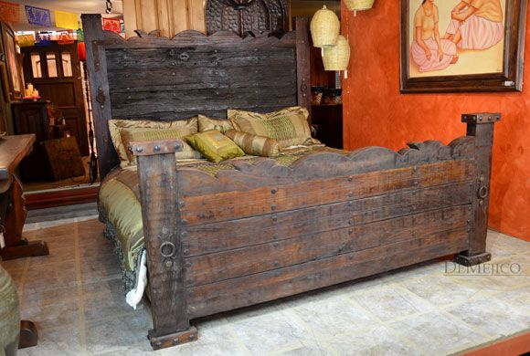 Old door hacienda bed.  Robert, Eddie & Bianca Luna. Santa Clarita, CAL.