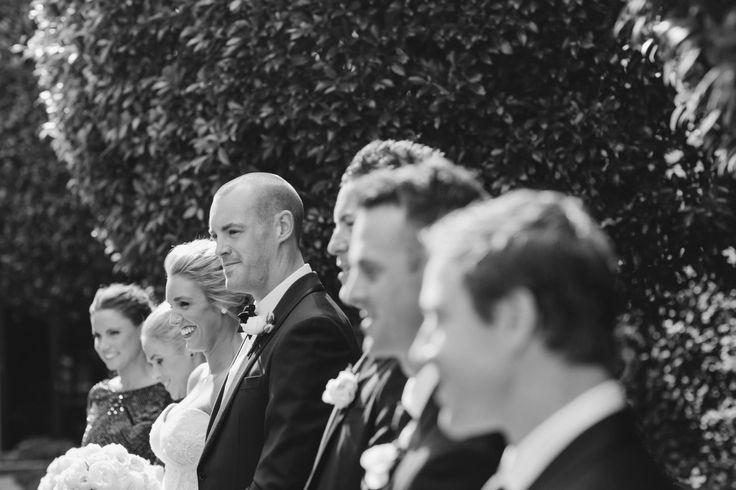 Wedding party in black & white. Park Hyatt Melbourne