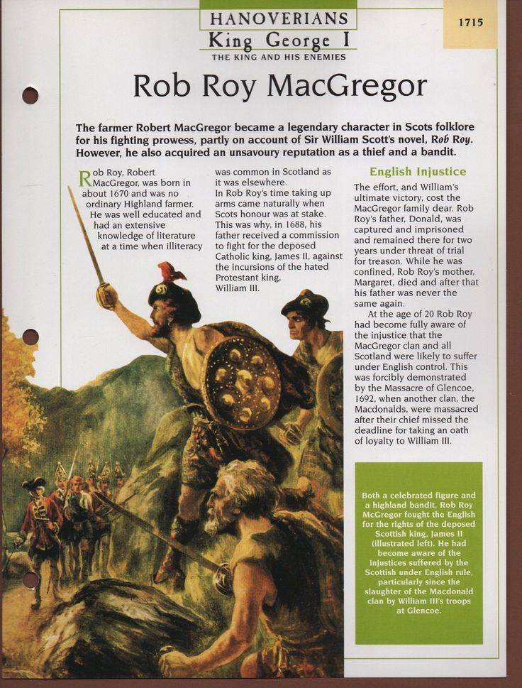 Rob Roy MacGregor - King George I - Hanoverians - Kings & Queens Maxi Card | eBay