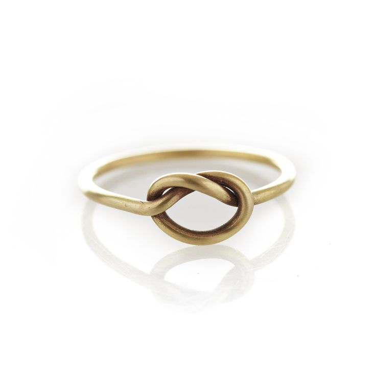 Dear Rae Jewellery | Brass Knot ring. A think brass ring with a center knot.