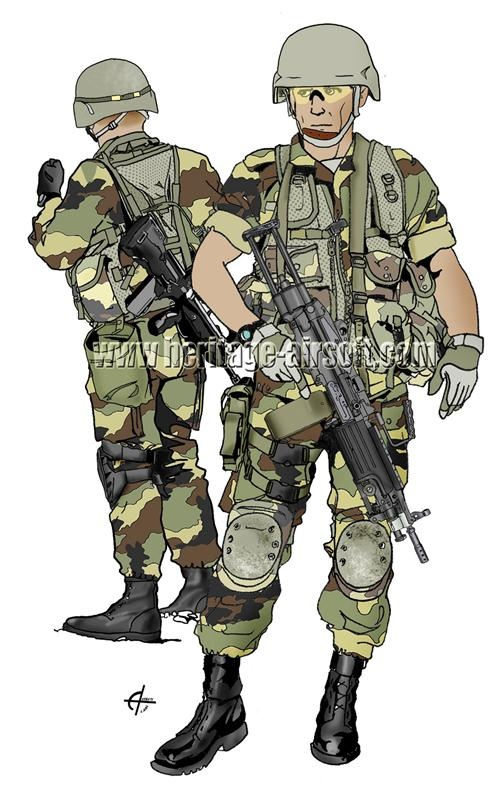 tenue troupes france tenues d 39 airsoft comtemporaines. Black Bedroom Furniture Sets. Home Design Ideas