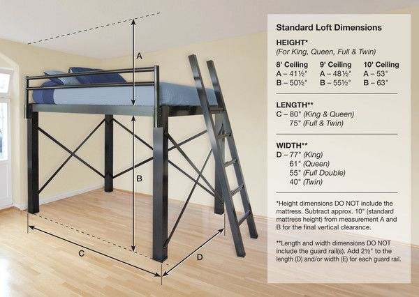 Loft Bed (King, Queen, Full, and Twin)