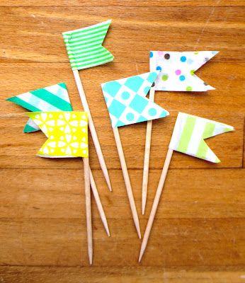 Create oh la la: DIY Washi Flags   Gör-det-själv: Washiflaggor