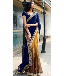 Precious Blue Georgette Saree.