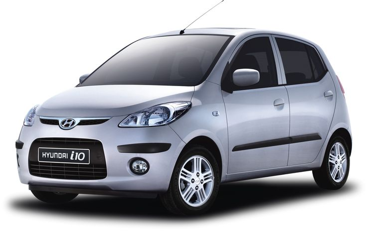 Car Specifications: Hyundai I10, 1200cc, manual, 5 seats, 5 doors.  Extra: A/C, radio, CD player