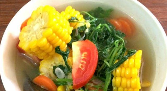 Sayur Bening Bayam Jagung Sehat Bervitamin Tinggi Simple Dijamin Ga Ribet Aneka Resep Jajanan Indonesia Makanan Pendamping Bayam Resep Makanan