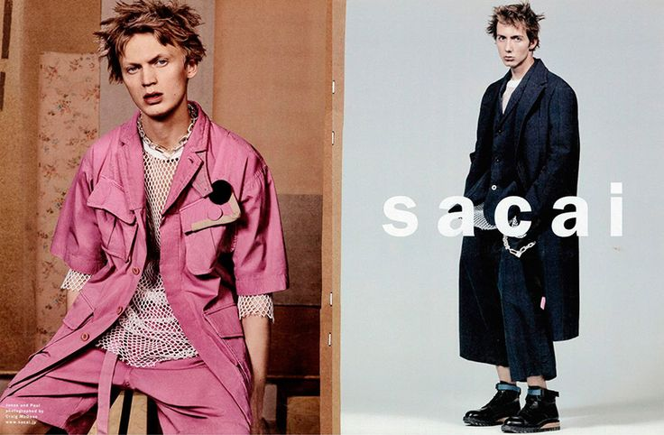 Jonas Glöer and Paul Hameline front the Spring/Summer 2017 campaign of Japanese brand Sacai.