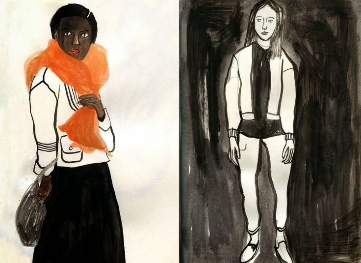 Fashion sketch by Cynthia Merhej