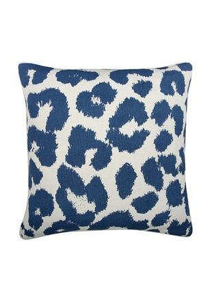 47% OFF Thomas Paul Leopard Feather Pillow, Marine