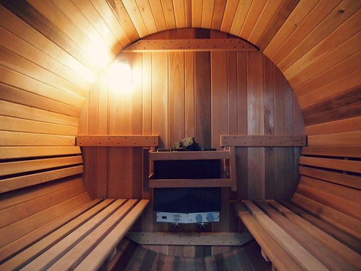 26 best barrelsauna 39 s barrel saunas images on pinterest for Build your own barrel sauna