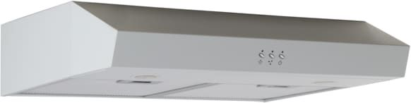 Avanti RH24P0W 24 Inch Under Cabinet Range Hood with 250 CFM Blower, 3-Speed Fan, 2-Level LED Lighting, 2 Washable Mesh Air Filters and Optional Recirculating Kit: White