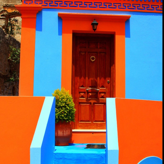 17 best images about complementary colors on pinterest - What colors compliment orange ...