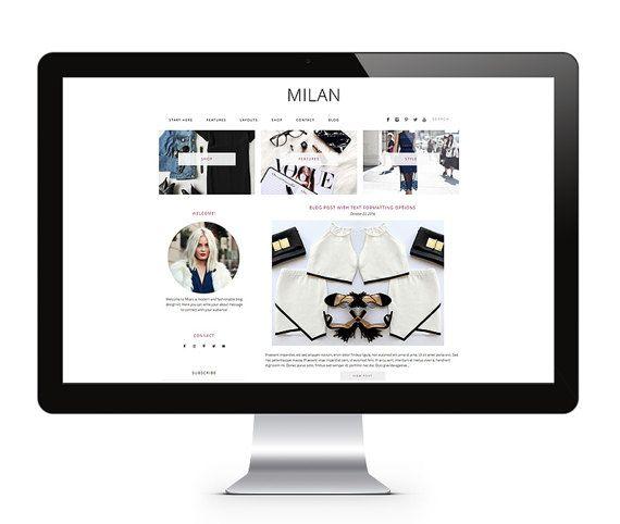 WordPress Theme - MILAN - WordPress Blog Theme, WordPress Template - WordPress Design – Responsive Wordpress Theme