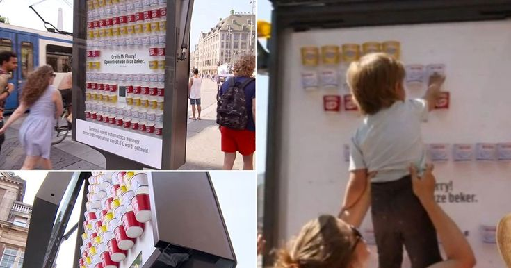Global fast food chain teams up with advertising companies to devise novel way of handing freebies to help people stay cool in soaring temperatures
