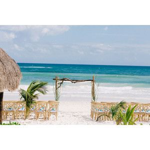 A Romantic Beach Destination Wedding at Akiin Beach Club in Tulum, Mexico
