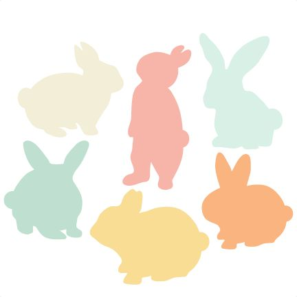 Miss Kate Cutables freebie of the day (3/24/15). Bunny Silhouette Set SVG scrapbook title cat svg cut files kitten svg cut files free svgs free svg cuts. *