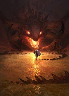 Guerreiro invadindo a toca do dragão.